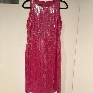 Ralph Lauren Pink Sequin Evening Dress, Size 6